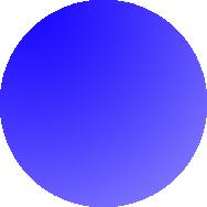 Winter blauwe bol