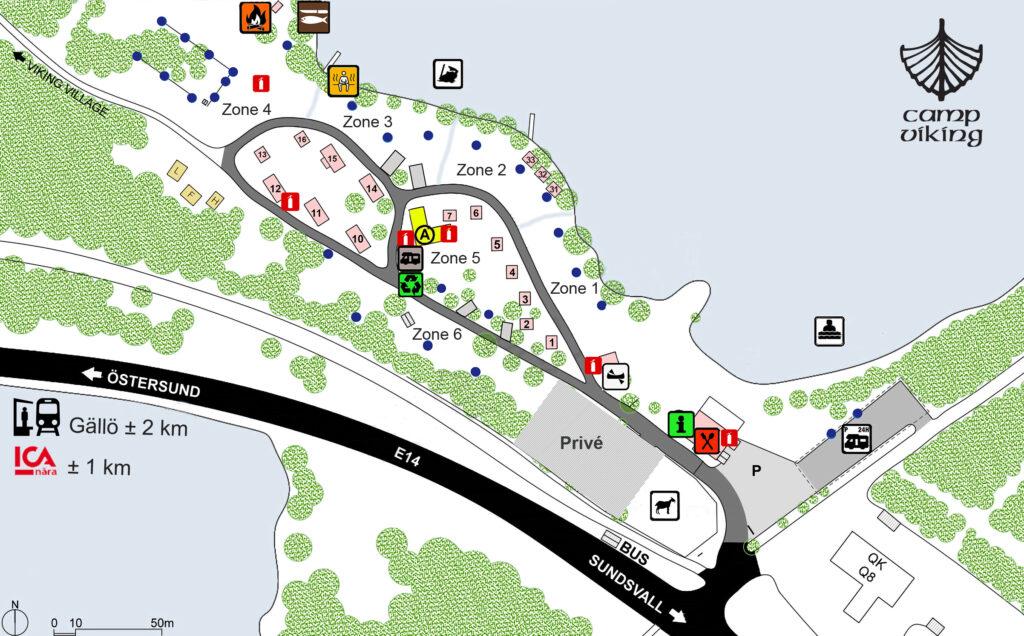 Campsite map Camp Viking