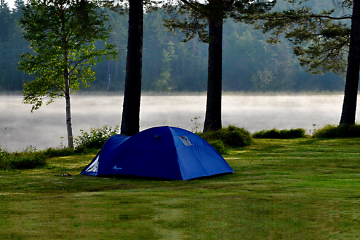 Tent at lake side Camp Viking